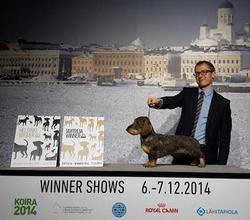 LTJW-14 LT JUN CH LVJW-14 LV JUN CH Lisego Nosa Sex Bomba also FINNISH WINNER 2014 & HELSINKI WINNER 2014