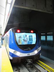 Train at Vancouver City Centre
