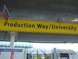 Production Way-University Station