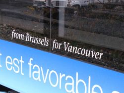 From Brussels for Vancouver