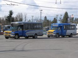 Two GMC Kodiak Shuttles at Oakridge