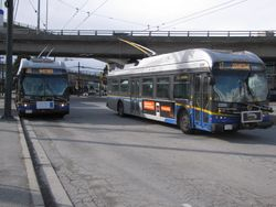 Two New Flyer E40LFR's at Marpole Loop