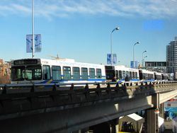 D40LF's parked outside Canada Hockey Place on the Dunsmuir Viaduct