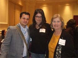 D.B. Grady, me and Barbara Colley