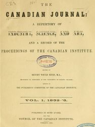 Canadian Journal 1852-53