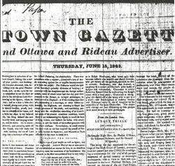 Bytown Gazette Cover