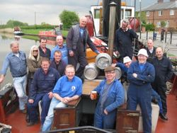 Delivering the Centenary brew to the Leigh Arms