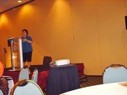 Tina explaining OublishAnerica