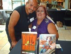 My husbandMarco and I at book signing
