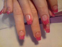 deep pink glitter