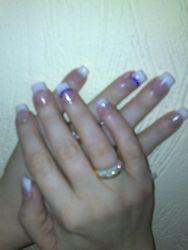french acrylic nails