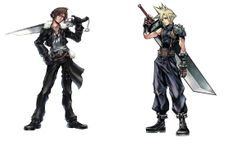 Dissidia Final Fantasy- Cloud and Squall