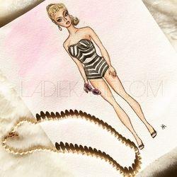 Vintage Barbie Watercolor