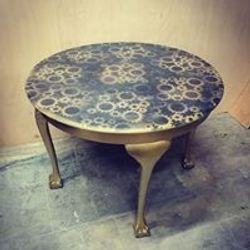 Cogs design round table