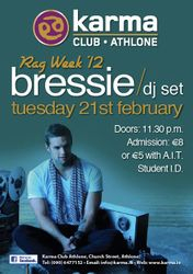 Poster we designed for Bressie @ Karma Athlone!