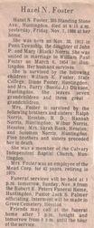 Foster, Hazel Norris 1986