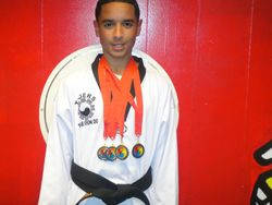 Felix D Nodarse III , 1 st pl Forms 1 st pl Breaking  1st pl Weapons  1st pl Fighting  at the 3 American Taekwondo Open Championship Oct 2 2011