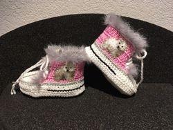 """Babyschuhe """"Eisbaer"""" pink"""