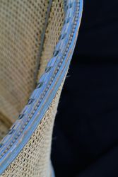 Antique Caned Settee Top Side View