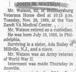 Watson, John 1989