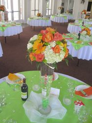 Table w/Tall Centerpiece