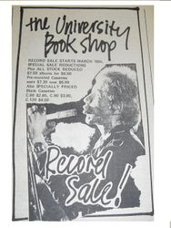 University Book Shop Record Sale 1977