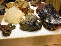 Mineral specimen on flat