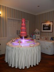 Pink Chocolate fountain Hire