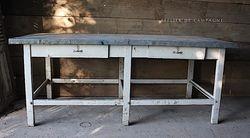 #29/215HUNGARIAN  TABLE ZINC TOP