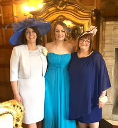 Stunning Mother of Bride and Groom and Bridesmaids at Hengrave Hall