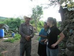 Couple in La Pila and Nicole (our translator)