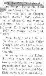 Mingle, Gertrude Shultz - Part 2