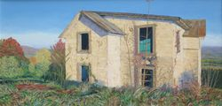 Orchard House, oil/linen, 15 x 30""