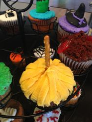 Witches Broom Cupcake