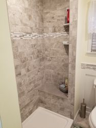 Full Bathroom Remodel, Tub Changed To Shower With Seat #2