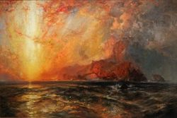 Moran, Fiercely the Red Sun, 1875, Raleigh