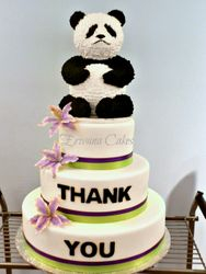 Corporate Event - Telus Panda Bear Cake