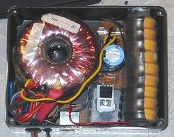 insides of Electronic lock on left....