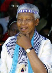 Mandela in Xhosa clothing