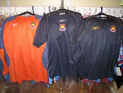 2003 away shirt samples from Reebok with keeper shirt