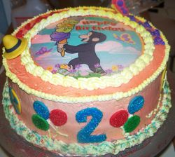 Curious George Edible Picture Cake