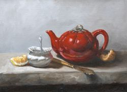 Still Life with Red Tea Pot