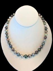 Gradient multicolor pearl strand