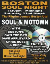 Boston Soul Night, Lincolnshire
