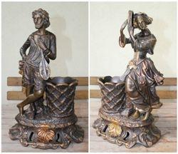 Antikvarines muzikantu statulos-vazos. Kaina 625 Eur. uz abi.