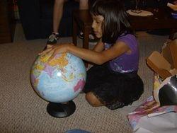 A globe!