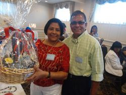 Shazaad;s parent winning the Boston team basket