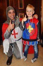 One happy birthday boy with Max Warrick as Knight Daniel