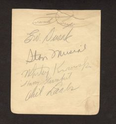 1941 STAN MUSIAL ROOKIE YEAR Baseball Autograph, EARLIEST EVER WITH CARDINALS?