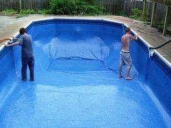 filling pool liner